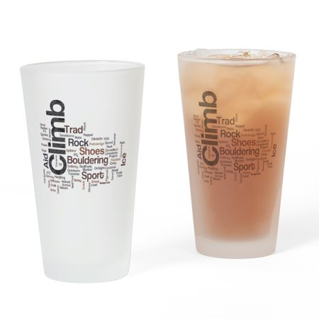CafePress - Climbing Words - Pint Glass, Drinking Glass, 16 oz. (Glasses With Words)