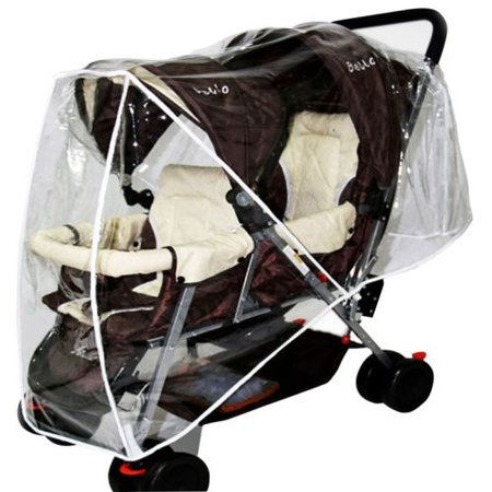 Stroller Weather Shield, Baby Rain Cover,  Waterproof, Water Resistant, Windproof, See Thru, Ventilation, Protection, Shade, Umbrella, Pram, Vinyl, Clear,