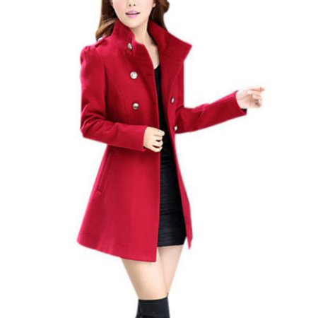 Womens Slim Windbreaker Long Trench Coat Jacket Overcoat Outwear