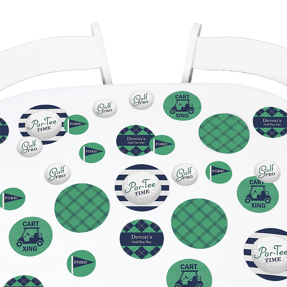 Par-Tee Time - Golf - Birthday or Retirement Party Table Confetti Set - 27 Count