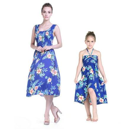 9af60dccf319 Hawaii Hangover - Mother & Daughter Matching Hawaii Luau Tank Elastic Dress  Girl Butterfly in Hibiscus Blue 10 - Walmart.com