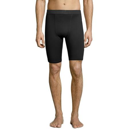 Hanes Sport Mens 9u0022 Performance Compression Shorts - Black L