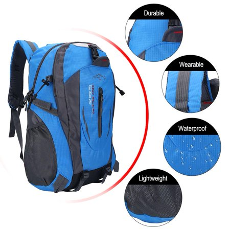 Hiking Backpack,40L Waterproof Daypack Outdoor Sport Rucksack for Travel Trekking Climbing Camping Mountaineering Skiing Fishing Cycling Camping Exploring