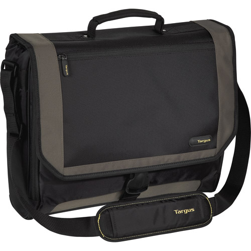 "Targus 17"" CityGear Miami Messenger Notebook Case (Black/Grey), TCG200"