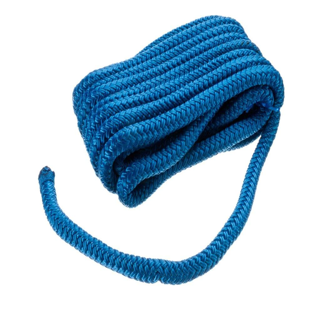"Double-Braid Nylon Dock Line 1 2"" x 20' 40411 Double-Braid Nylon Dock Line 1 2"" x 20' Blue, High quality dock line designed to... by"