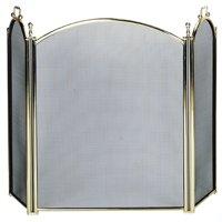 Pemberly Row 3 Fold Large Diameter Polished Brass Screen