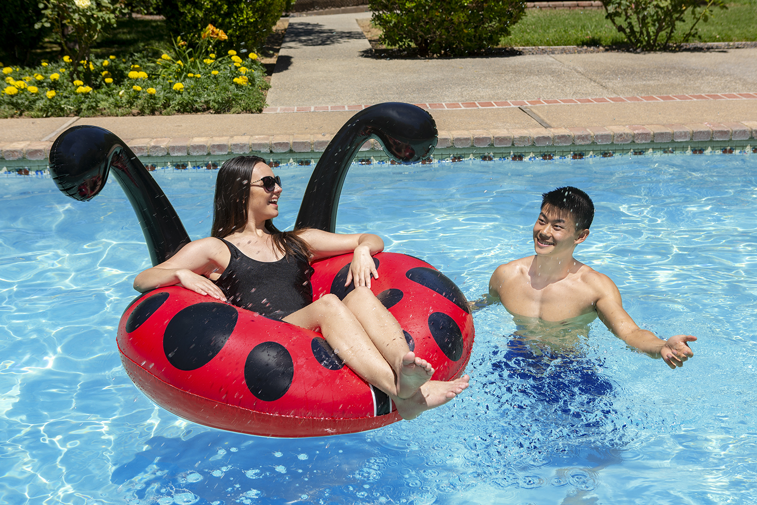 Poolmaster 48-Inch Swimming Pool Float Party Tube, Lady Bug by Poolmaster