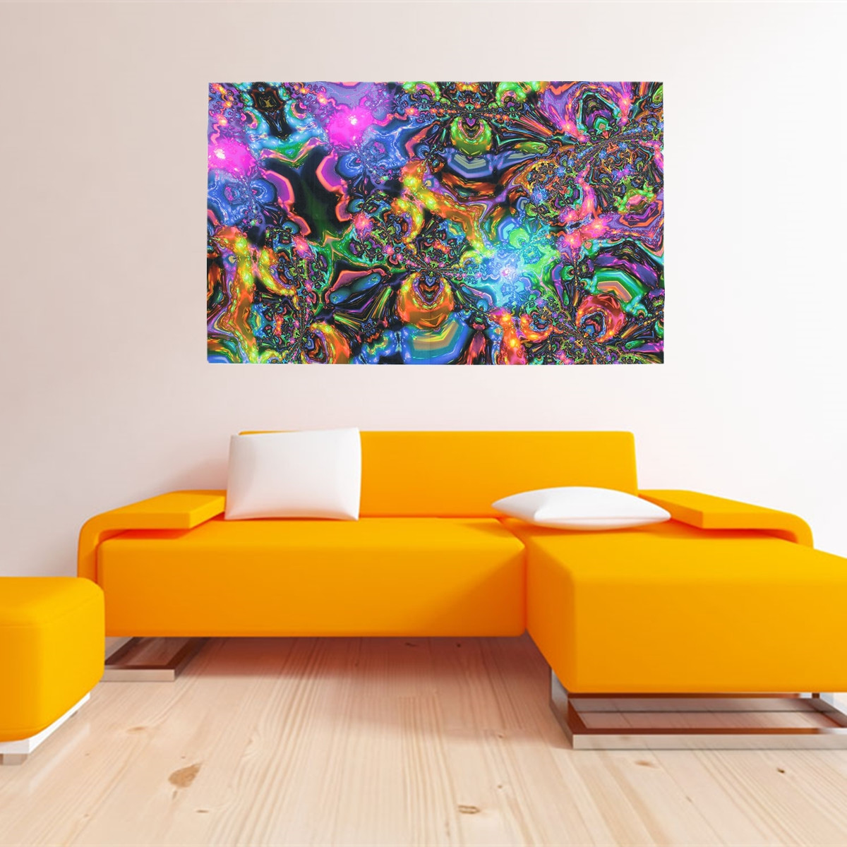 Modern Wall Hanging Art Psychedelic Trippy Oil Painting Picture Print Home Living Room Decor No Frame 40 X 24 Walmart Canada