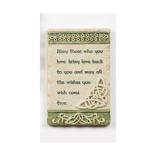 "5.75"" Irish Blessing and Celtic Trinity Knot Religious Versed Wall Plaque"