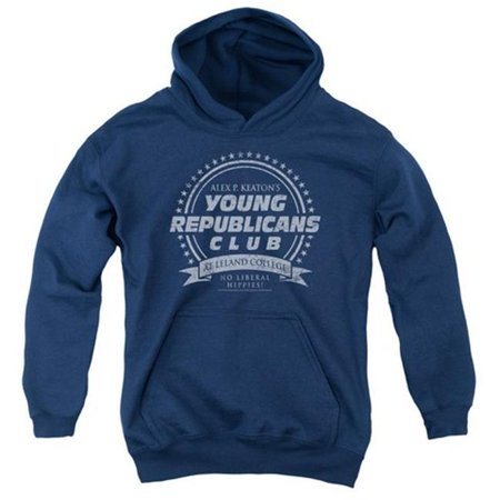 Trevco Family Ties-Young Republicans Club - Youth Pull-Over Hoodie - Navy, Extra Large