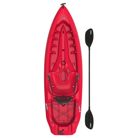 Lifetime Daylite 8 ft Sit-on-top Kayak (Paddle Included), Red, 90775 Epic Kayak Paddles