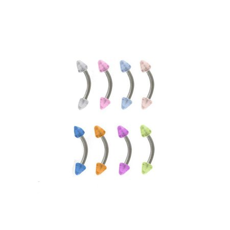 Eyebrow Ring Glow in the Dark Bead Ends 16G Cartilage Ear Piercing Tragus Daith
