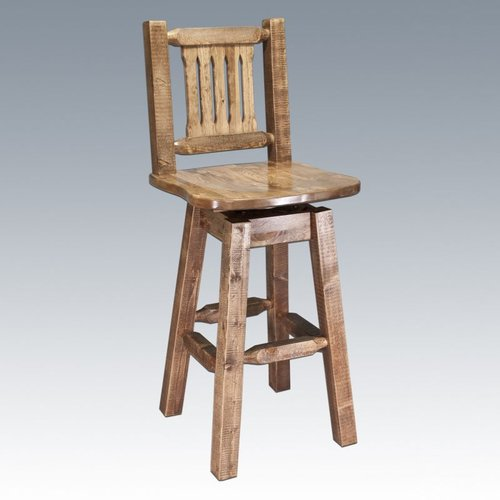 MWHCBSWSNR Homestead Swivel Barstool with Back