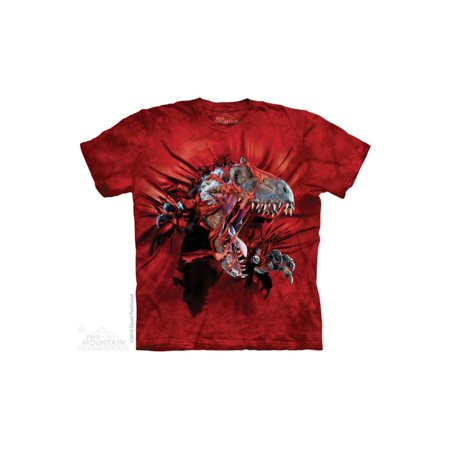 The Mountain Red Rip Rex - Ch Big Boys T-Shirt Tee - How Big Is At Rex