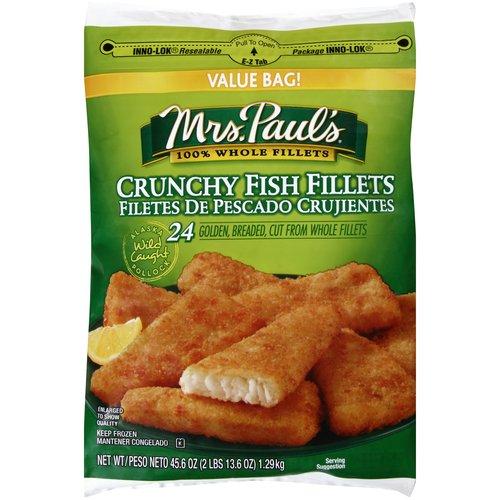 Mrs. Paul's Crunchy Fish Fillets, 24 ct, 45.6 oz