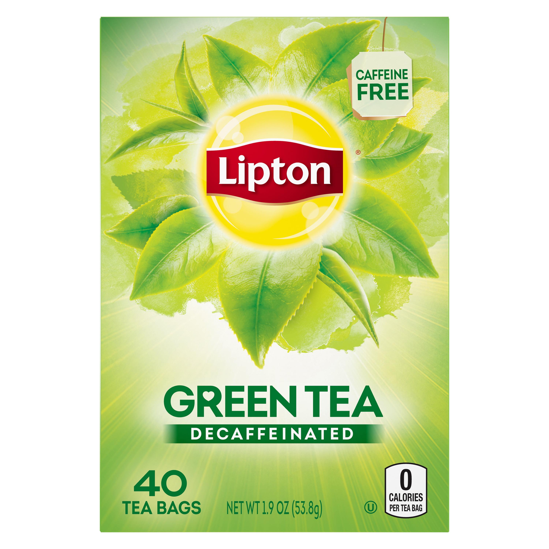(6 Boxes) Lipton Green Tea Bags Decaffeinated 40 ct
