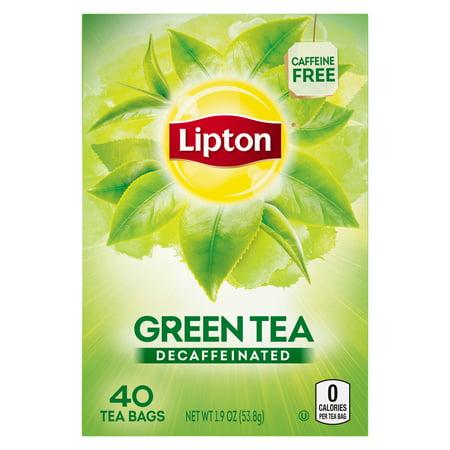 (6 Boxes) Lipton Green Tea Bags Decaffeinated 40 ct ()