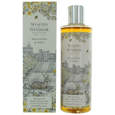 Woods Of Windsor Honeyed Pear & Amber 8.4oz Bath and Shower Gel women