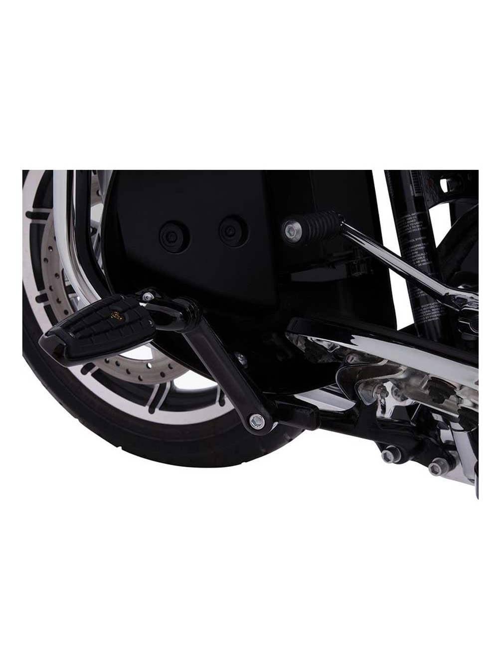 60120 CIRO Driver Floorboard Adjustable Highway Peg Mounts Black