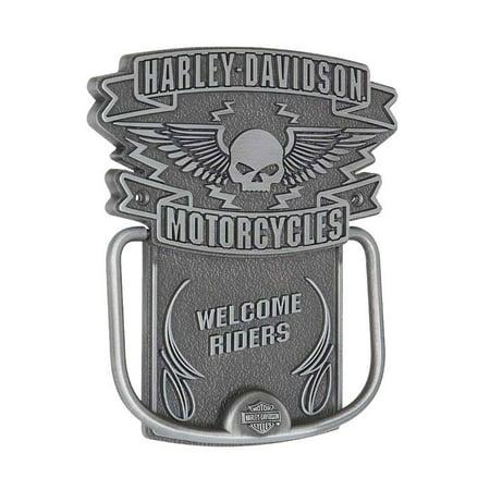 Harley-Davidson Door Knocker, Winged Willie G. Skull Knocker, Silver HDL-10097, Harley Davidson