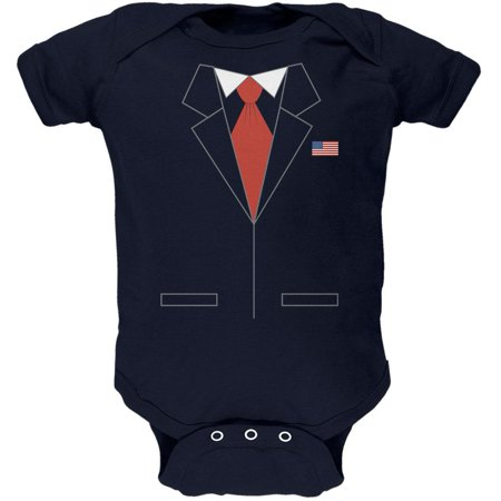 Halloween President Costume Republican Soft Baby One Piece (Navy Seal Costume)