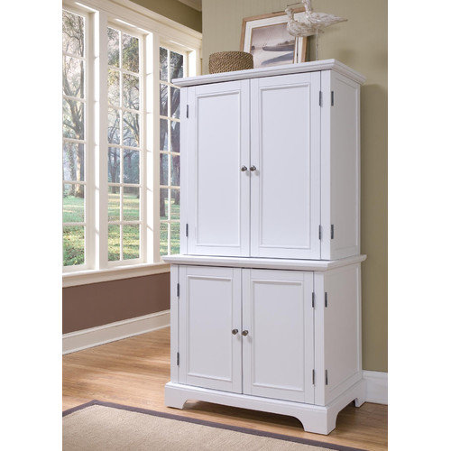 Home Styles Bedford Compact Office Cabinet and Hutch