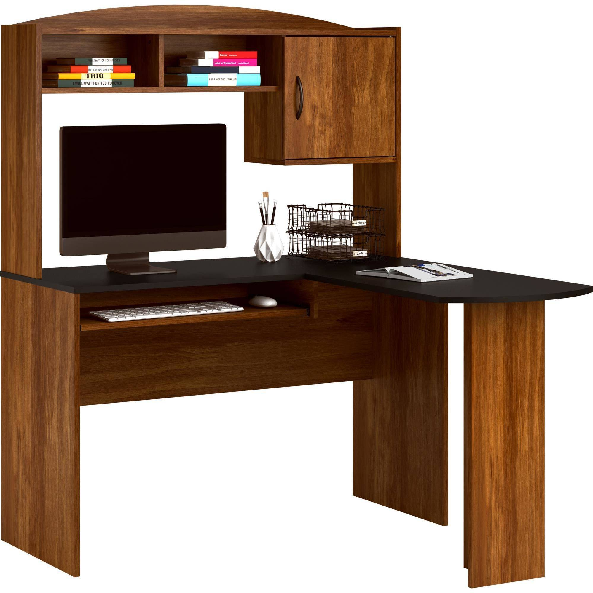 desk home fice beautiful hutch with of specific black contemporary top
