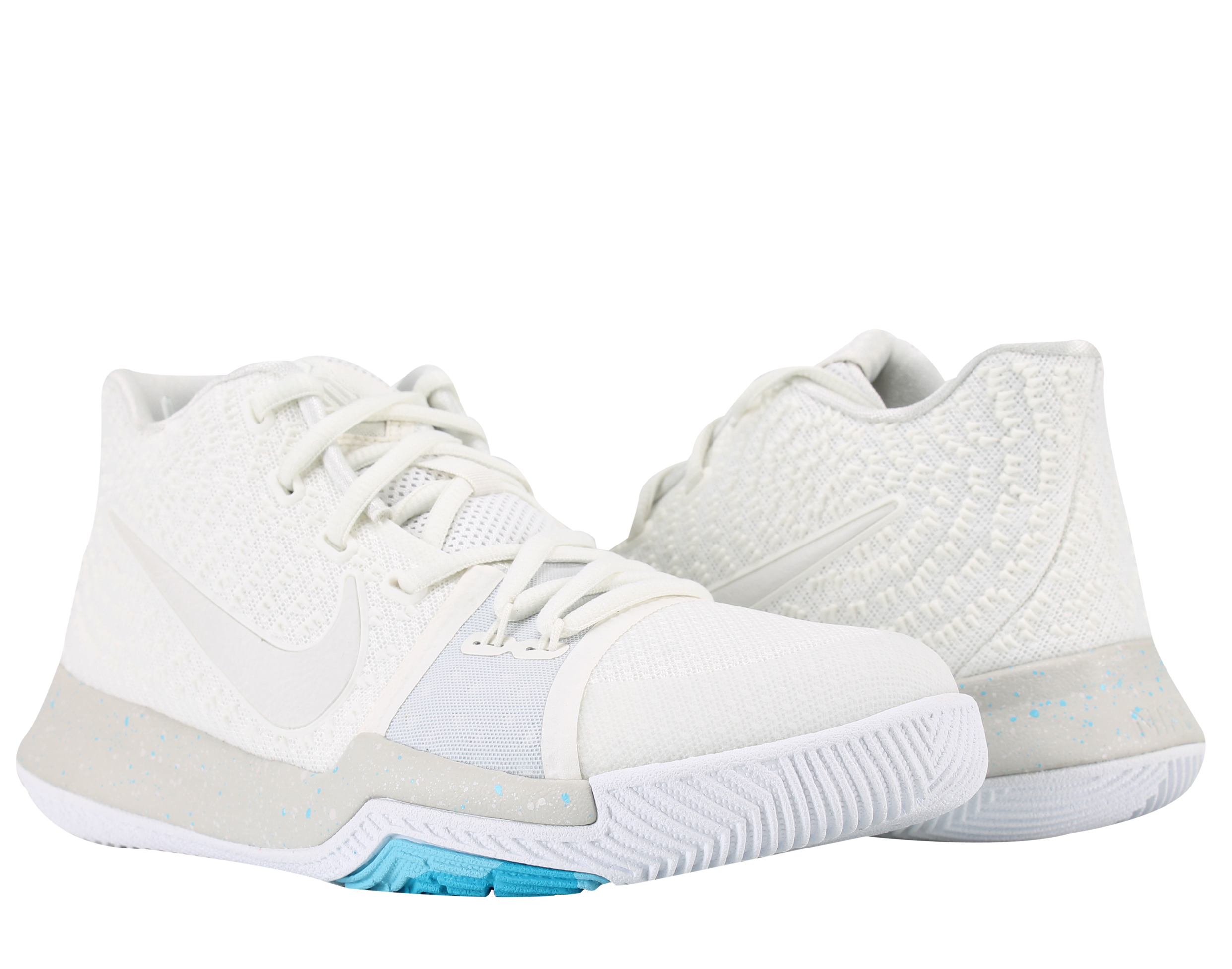 8605b54d67de ... top quality nike kyrie 3 gs ivory grey light bone big kids basketball  shoes 859466 101