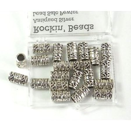 20 Tube, Loose Beads, 12x6mm with 4mm Hole for European Style Charm Bracelets Spacers - Fox Charm