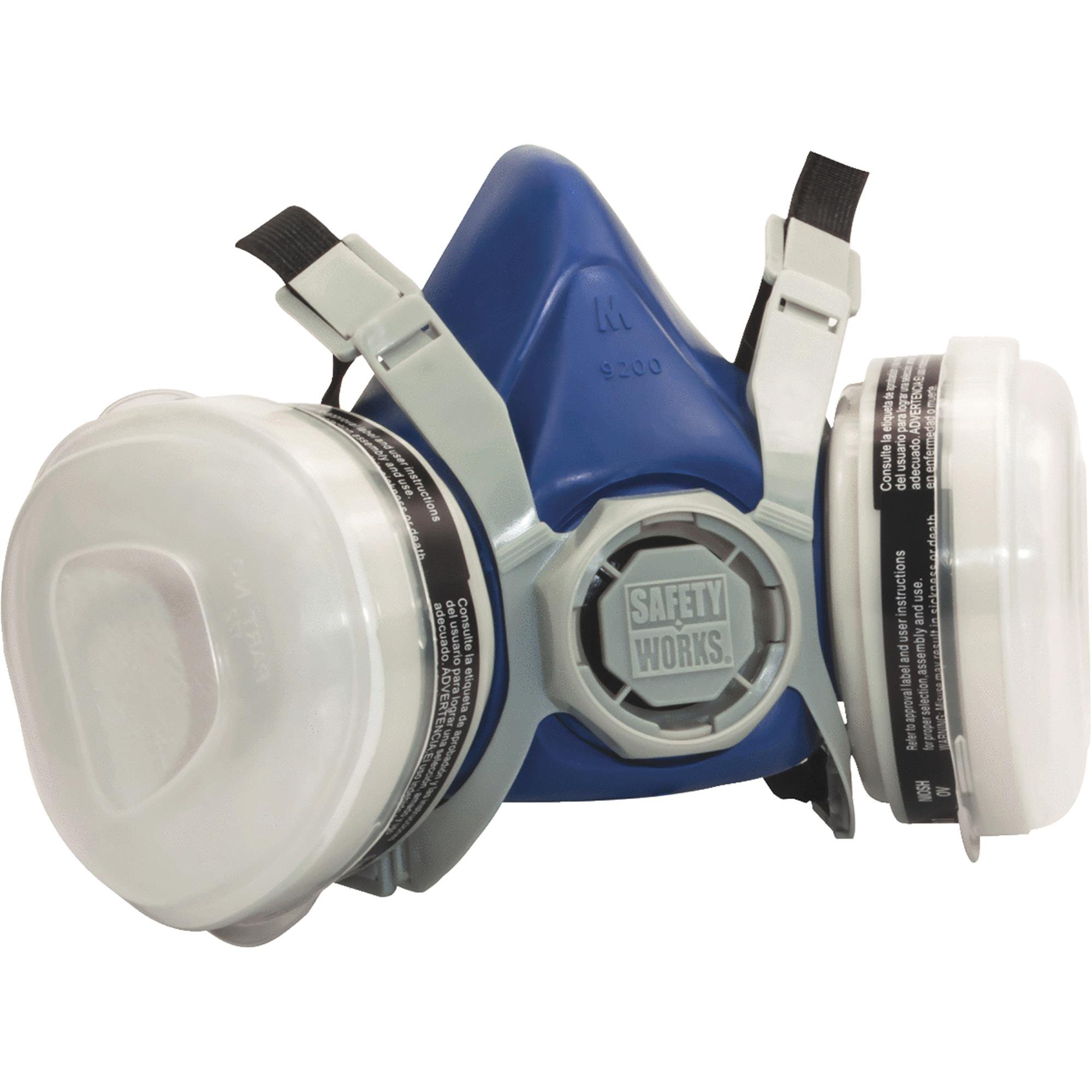 Safety Works Half- Mask P95 Paint & Pesticide Respirator, Medium