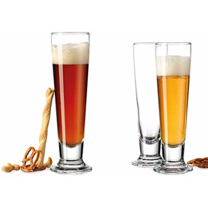 Palais Clear Luxurious 14-ounce Footed Classic Pilsner Glass, Set of Four (Clear)