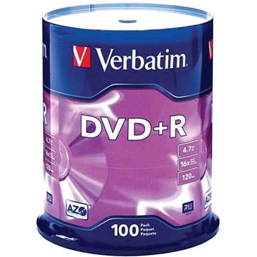 Verbatim DVD R 4.7GB 16X AZO 100pk Spindle