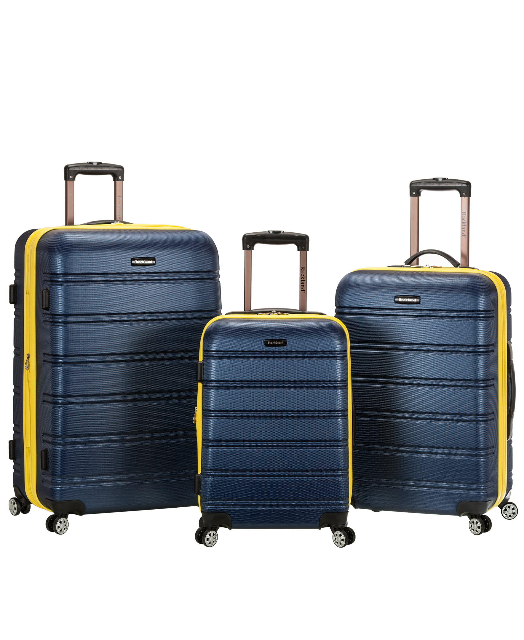 2e436de9a Rockland Luggage Melbourne 3 Piece Hardside Luggage Set - Walmart.com