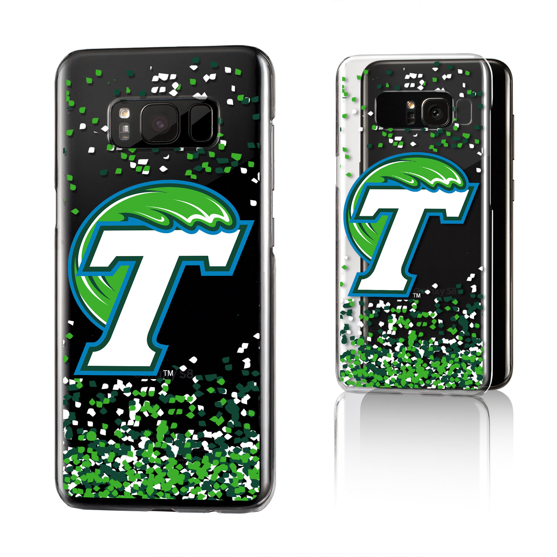 TU Tulane Green Wave Confetti Clear Case for Galaxy S8