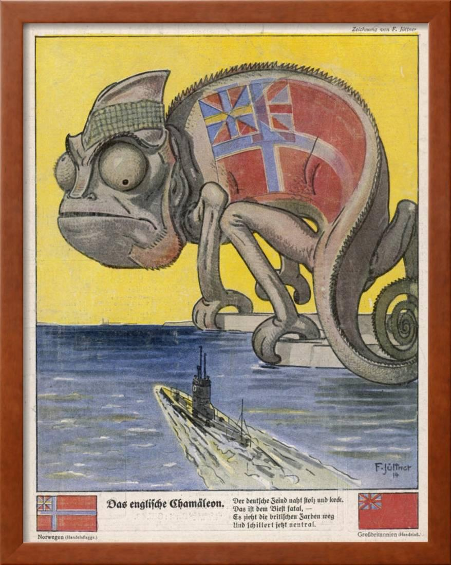 Terrified By German U Boats The English Pretend To Be Neutral Framed