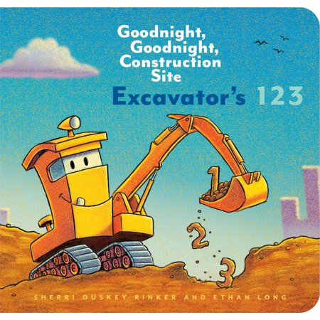 Excavators 123: Goodnight, Goodnight, Construction Site (Counting Books for Kids, Learning to Count Books, Goodnight Book) (Watch 19 Kids And Counting)