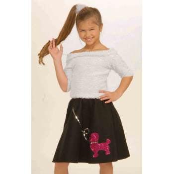 CHCO-SOCK HOP TOP-PINK-MEDIUM (Fifties Sock Hop Clothes)