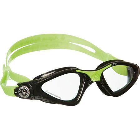 7299dc8eca9 Aqua Sphere Kayenne Jr Goggles  Lime Black with Clear Lens - Walmart.com