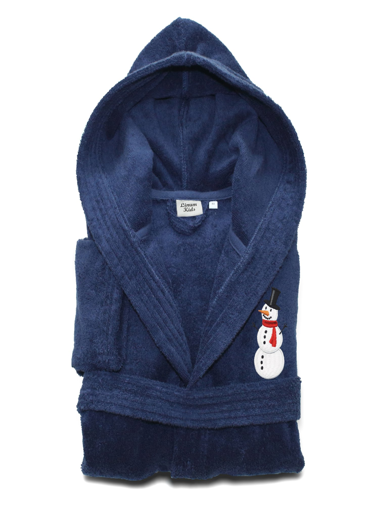 Linum Home Textiles Linum Kids Turkish Cotton Hooded Terry Bathrobe - Snowman