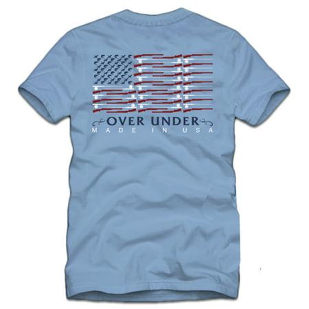 Over Under Clothing Shotgun Flag Short Sleeve Pocket T-shirt-Blue