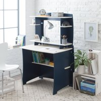 Legare 36 in. Desk with Hutch - Navy and White