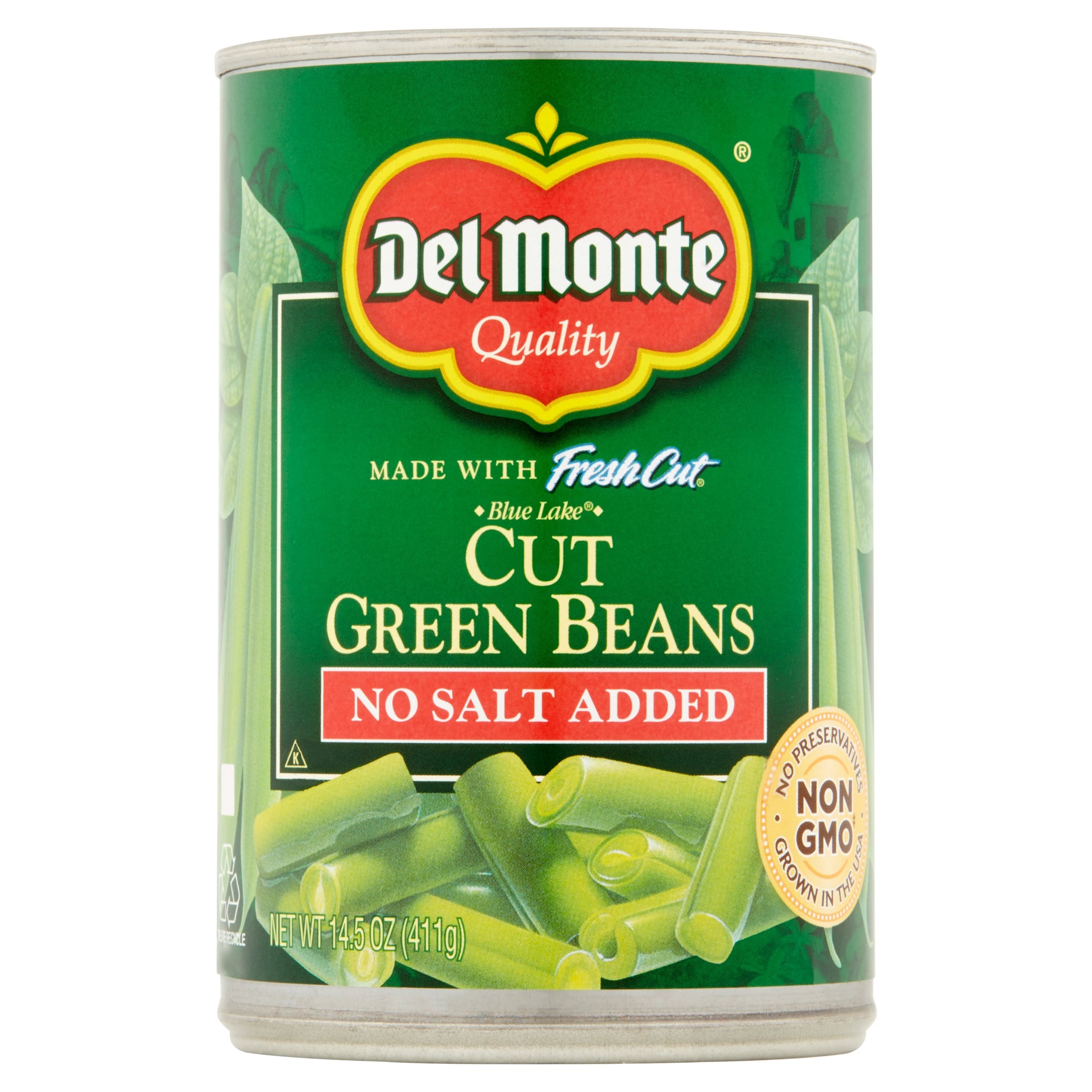 Del Monte Fresh Cut Blue Lake Cut Green Beans, No Salt Added, 14.5 Oz