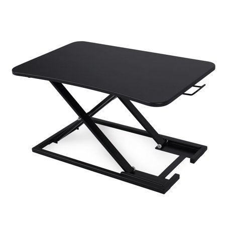BELLEZE Height Adjustable Large Tabletop Sit Stand Computer Monitor Converter Desk,
