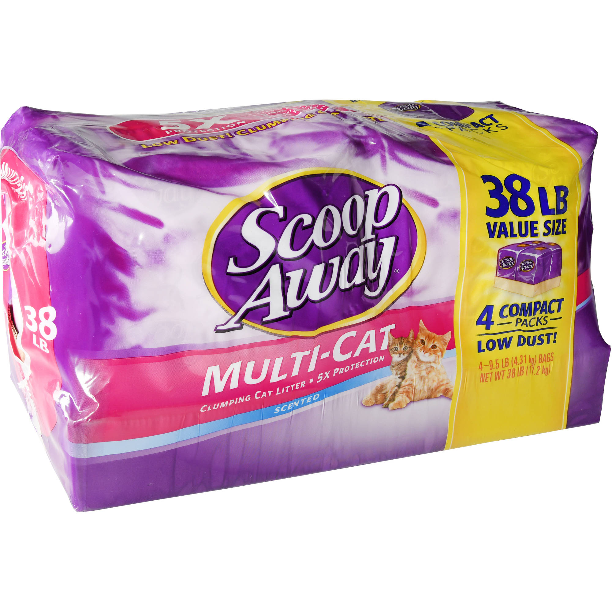 Scoop Away Multi-Cat, Scented Cat Litter, 38 lb Box