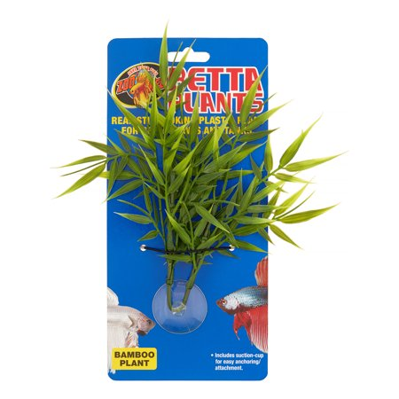 Zoo Med Betta Bamboo Plant Aquarium Decor, Green