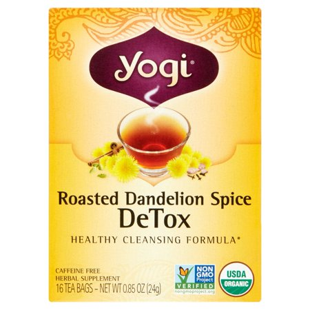 Yogi Detox Roasted Dandelion Spice Tea Bags   16 Ct