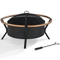 Crosley Yuma Copper Ring Firepit, Black