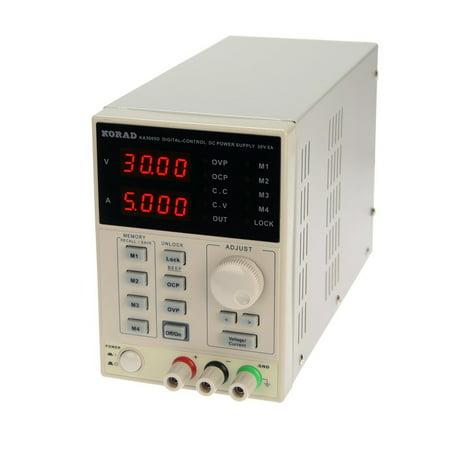 KORAD KA3005D - Precision Variable Adjustable 30V, 5A  DC Linear Power Supply Digital Regulated Lab