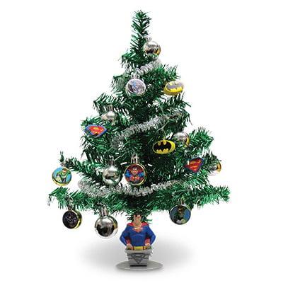 Kurt S Adler BM9141 Artificial Christmas Tree Set, Justice League Batman & Superman, 19-In. ()