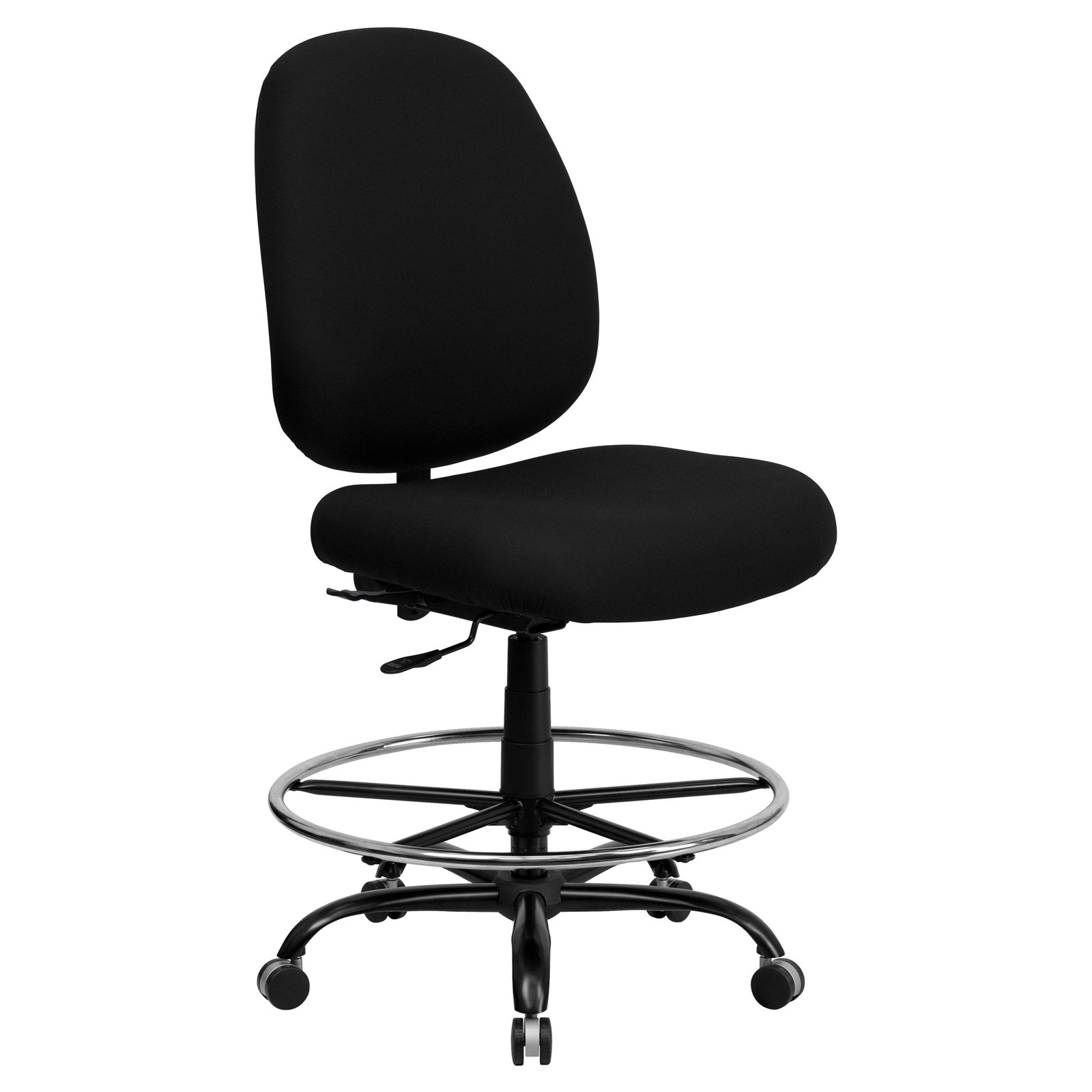 Flash Furniture HERCULES Series Capacity Big U0026amp; Tall Fabric Drafting  Chair With Extra WIDE Seat